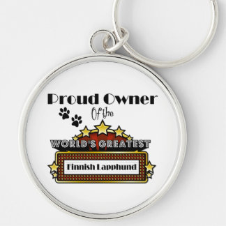 Proud Owner World's Greatest Finnish Lapphund Silver-Colored Round Keychain