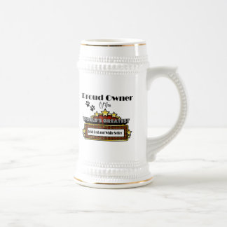 Proud Owner World's Greatest Irish Red and White S Beer Stein