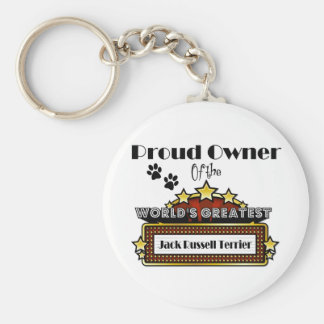 Proud Owner World's Greatest Jack Russell Terrier Basic Round Button Keychain