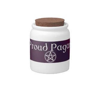 Proud Pagan jar with lid Candy Jar
