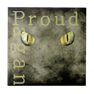 Proud Pagan Small Square Tile