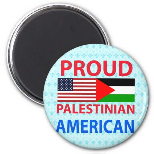 Proud Palestinian American 2 Inch Round Magnet