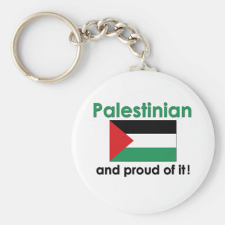 Proud Palestinian Basic Round Button Keychain