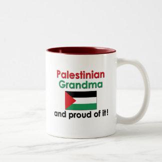 Proud Palestinian Grandma Two-Tone Coffee Mug
