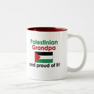 Proud Palestinian Grandpa Two-Tone Coffee Mug