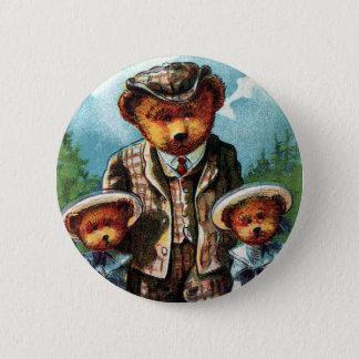 Proud Papa Bear - Letter P - Vintage Teddy Bear Button
