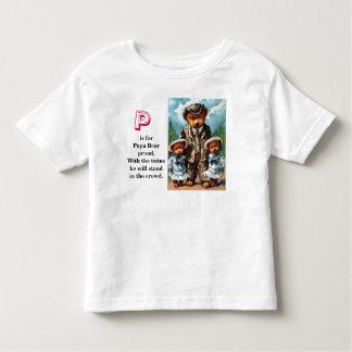 Proud Papa Bear - Letter P - Vintage Teddy Bear Toddler T-shirt