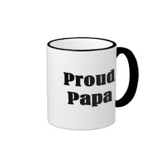 Proud Papa T-shirts and Gifts. Ringer Mug