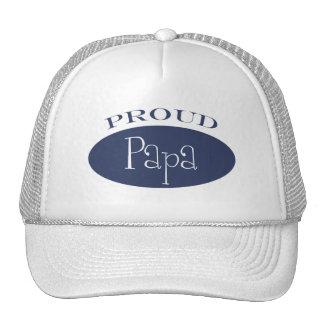 proud papa trucker hat