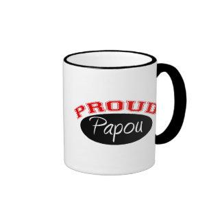 Proud Papou Ringer Coffee Mug