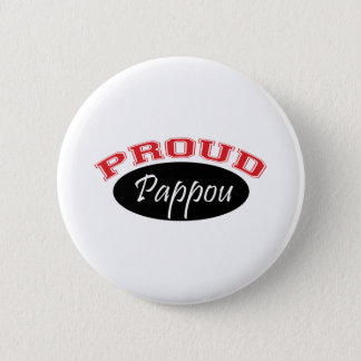 Proud Pappou (Black and Red) Pinback Button