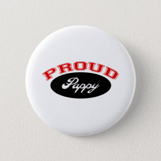 Proud Pappy (Red and Black) Pinback Button