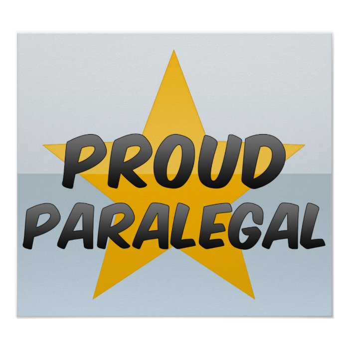 Proud Paralegal Poster