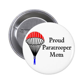 Proud Paratrooper Mom Button
