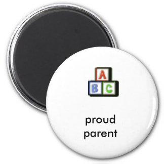 proud parent abc magnet