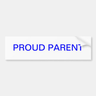 Proud Parent Car Bumper Sticker