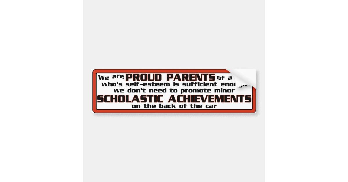 Proud parent bumper sticker zazzle com