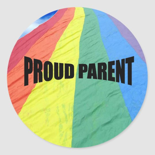 Proud Parent Classic Round Sticker