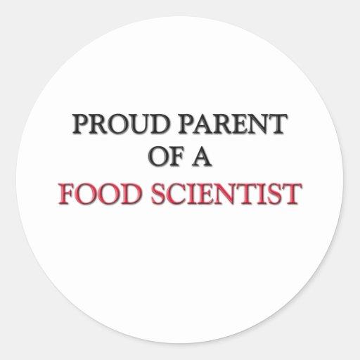 Proud Parent Of A FOOD SCIENTIST Classic Round Sticker