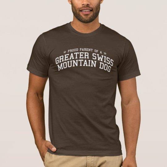 Proud Parent of a Greater Swiss Mountain Dog Dark T-Shirt