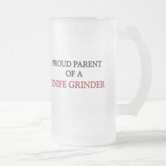 Proud Parent Of A KNIFE GRINDER Frosted Glass Beer Mug