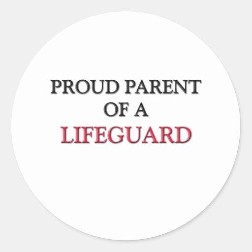 Proud Parent Of A LIFEGUARD Sticker