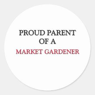 Proud Parent Of A MARKET GARDENER Round Stickers