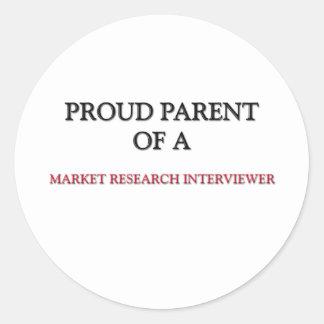 Proud Parent Of A MARKET RESEARCH INTERVIEWER Sticker