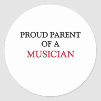 Proud Parent Of A MUSICIAN Classic Round Sticker
