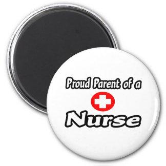 Proud Parent of a Nurse 2 Inch Round Magnet