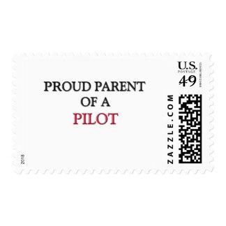 Proud Parent Of A PILOT Postage Stamp