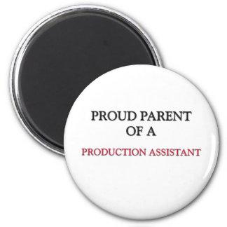 Proud Parent Of A PRODUCTION ASSISTANT Fridge Magnets