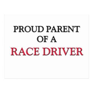 Proud Parent Of A RACE DRIVER Postcard