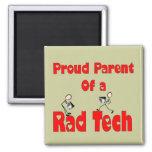 Proud Parent of a RAD TECH 2 Inch Square Magnet