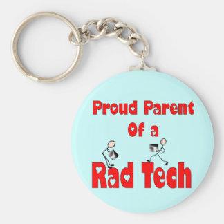 Proud Parent of a RAD TECH Basic Round Button Keychain