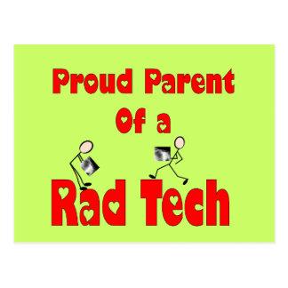Proud Parent of a RAD TECH Postcard