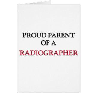 Proud Parent Of A RADIOGRAPHER Greeting Card
