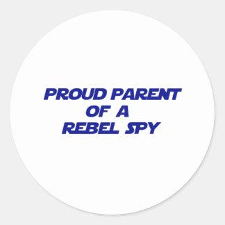 Proud Parent of a Rebel Spy Classic Round Sticker