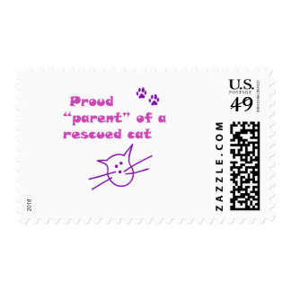 proud parent of a rescued cat stamps