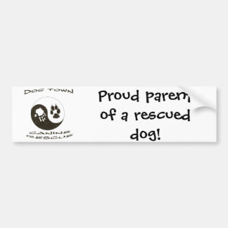 Proud parent of a rescued dog! bumper sticker