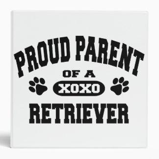 Proud Parent of a Retriever Custom 3 Ring Blinder Binder