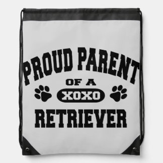 Proud Parent of a Retriever Drawstring Backpack