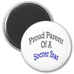 Proud Parent Of A Soccer Star Refrigerator Magnets