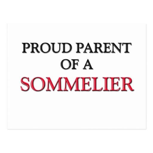 Proud Parent Of A SOMMELIER Postcard