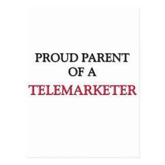 Proud Parent Of A TELEMARKETER Postcard