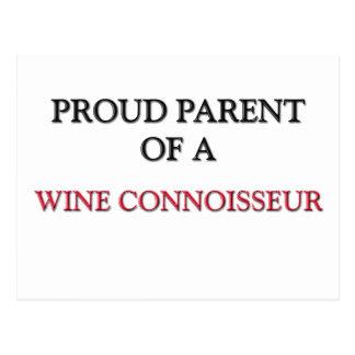 Proud Parent Of A WINE CONNOISSEUR Postcard