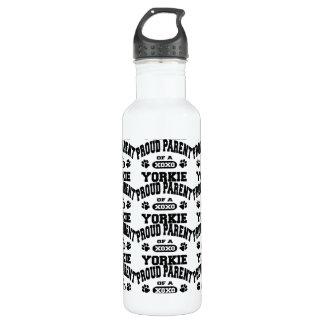 Proud Parent of a Yorkie Steel Water Bottle