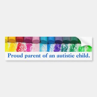 Proud parent of an autistic child bumper sticker