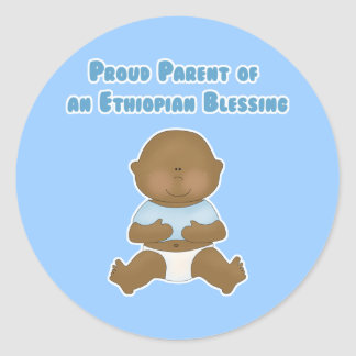 Proud Parent of an Ethiopian Blessing Classic Round Sticker