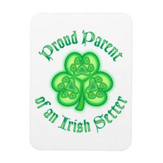 Proud Parent of an Irish Setter Rectangular Photo Magnet